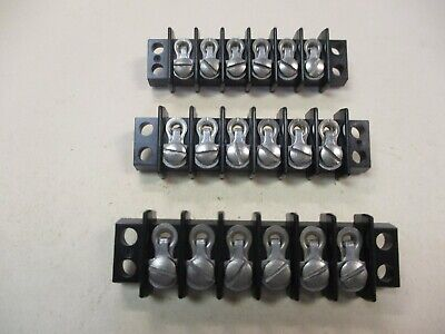 Cinch Used 6-position Single Terminal Block Qty 3