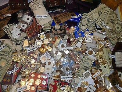 OLD ESTATE LOT US COINS*GOLD SILVER*.999 BULLION HOARD GEMS SALE. 50+ PIECE LOT