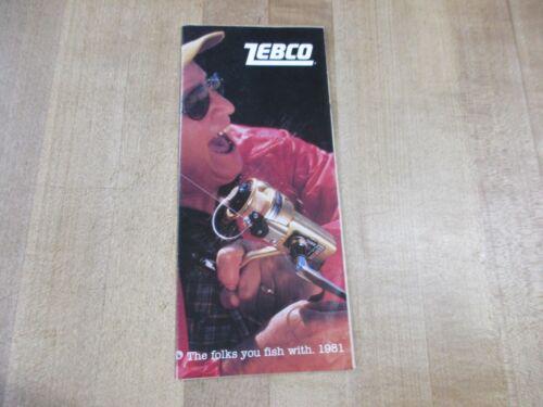 1981 Zebco Fold Out Brochure Fishing Reels.  (w2)