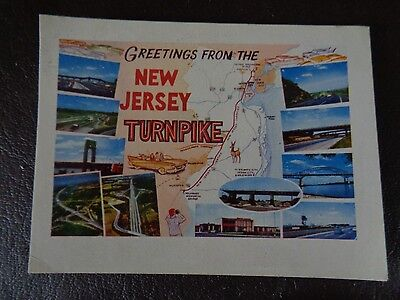 """Vintage Postcard Set """"Greetings From The New Jersey Turnpike"""" (Cat.#6B031)"""