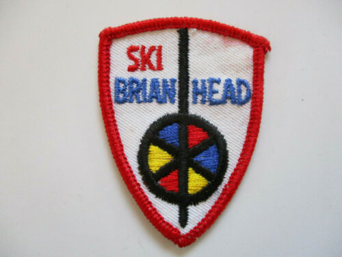 vintage 1970s Brian Head Utah Ski Resort Skiing Souvenir Patch RARE