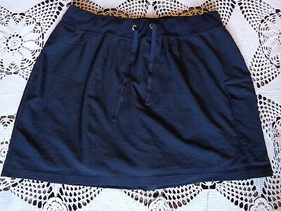 Black gothic a line flattering drawstring pocket running tennis skirt shorts M