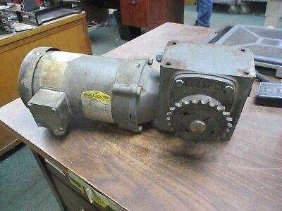 Baldor Ac Motor W Gear Vm3546 1hp 1800rpm Fr56c 208-230460v 3.7-3.41.7a Used