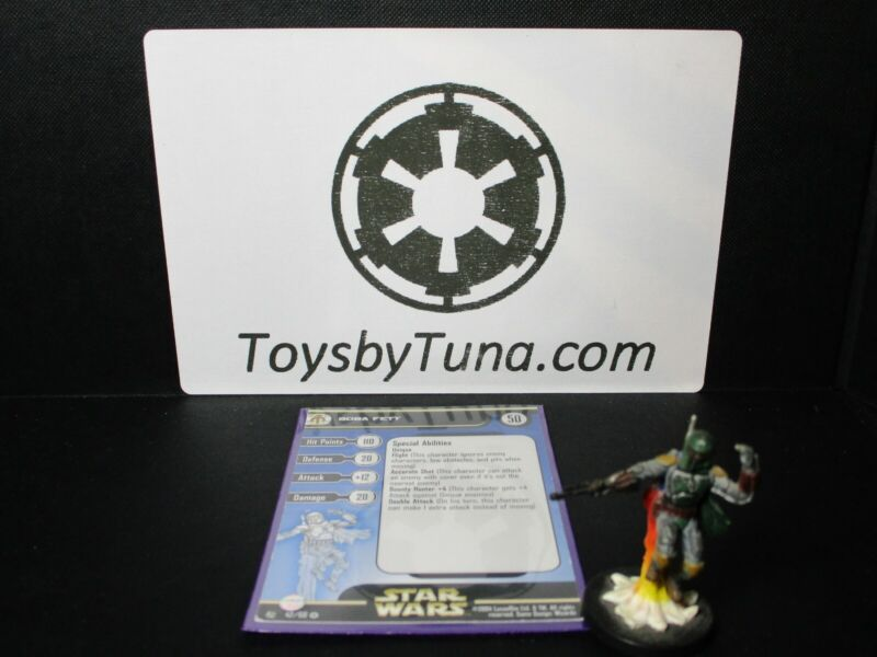 Star Wars Miniatures Boba Fett Rebel Storm RS w/ Card mini RPG Legion