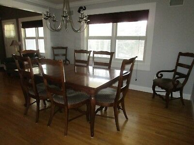 Henredon Dining Room Set with Sideboard  Registry Collection Alden Wood, Merlot