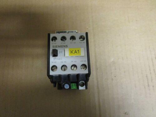 SIEMENS CONTACTOR 3TH4031-0A 115V COIL 3TH40310A w/ 3TX7402-3S
