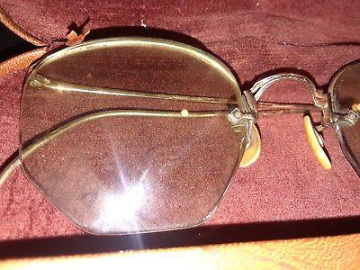 American Optical Vintage glasses non-perscription AO 1/10 12 KT GF (Gold (Non Perscription Glasses)
