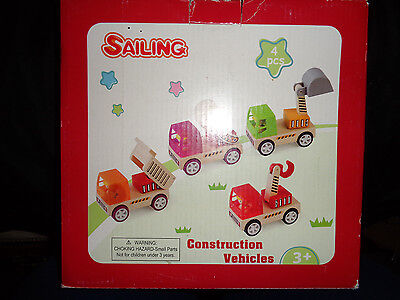 Wooden Construction Toys (Wooden Toy Construction Vehicle Set: Brand)