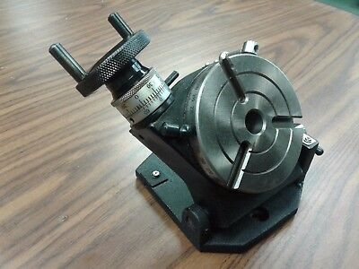4 Precision Tilting Rotary Table Mt2 Center Parttsk-100in- New