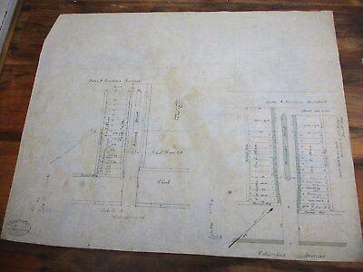 1868 Trace Survey Columbus Ave & Rutland, Pembroke St Boston, Union Church