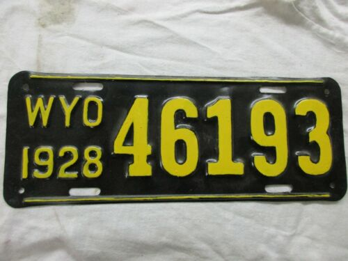 1928 Wyoming License Plate