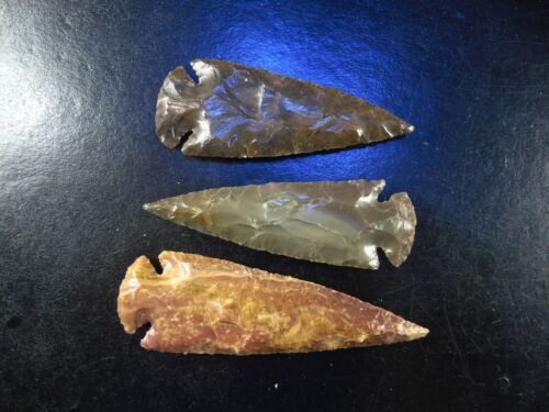 "4"" Plains Type Stone Spearhead Arrowhead knife blade Chert Flint t (Plains)"