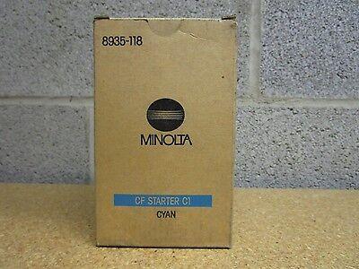 Konica Minolta 8935-118 Cyan Starter Laser Toner Bottle Works for CF900 CF910