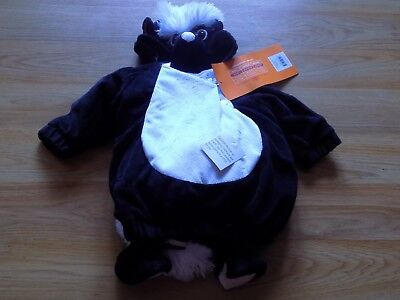 Infant Baby Size 0-6 Months Hyde & Eek Little Stinker Skunk Halloween Costume  - Infant Skunk Halloween Costumes