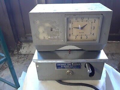Vintage Cincinnati Time Recorder Manual Punch Card Time Clock -