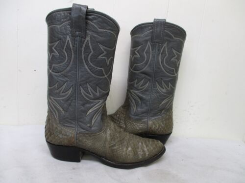 NOCONA, Gray, Snakeskin, Leather, Cowboy, Boots, Mens, Size, 8, D, Style, 9052, USA