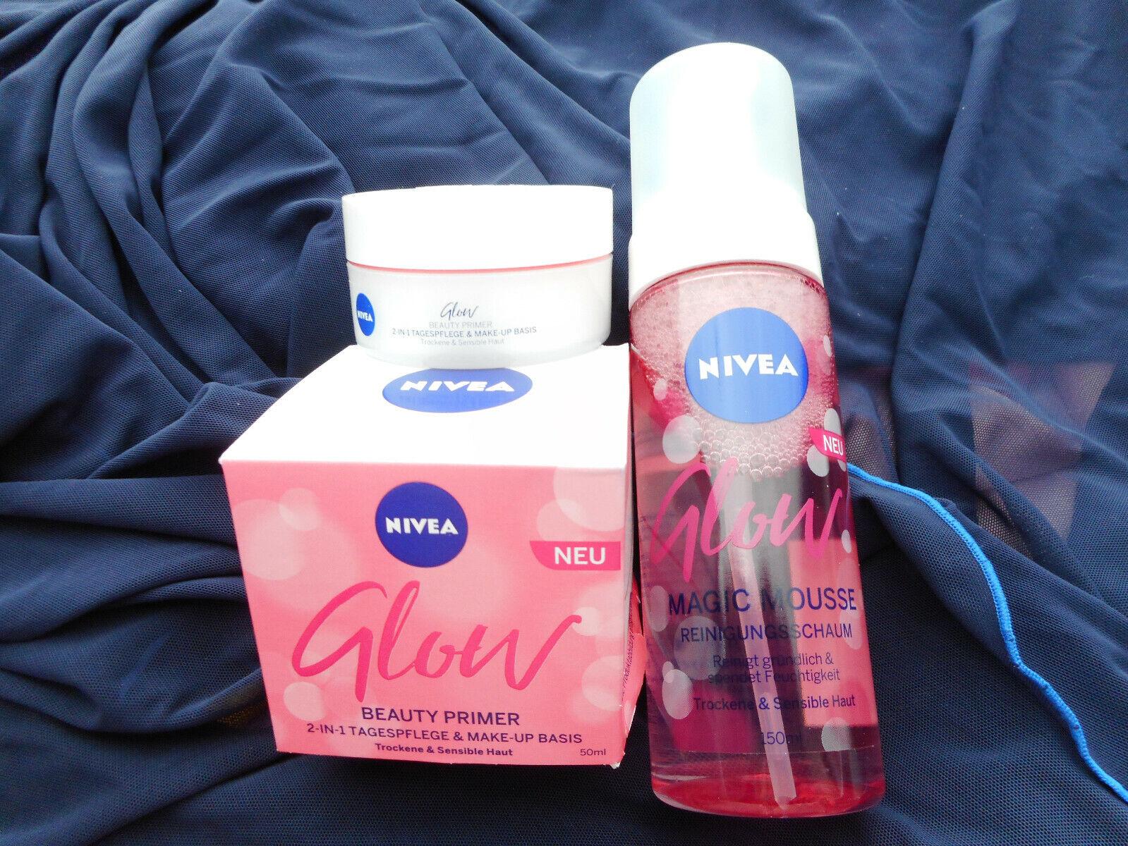 NIVEA Glow Beauty 2 in 1 Primer + Tagescreme 50 ml + Nivea Glow Reinigungsmousse