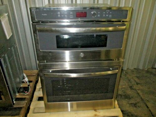 """GE Profile Series 30"""" Built-In Single Electric Convection Wall Oven with Built-In Microwave Stainless-Steel PT7800SHSS"""