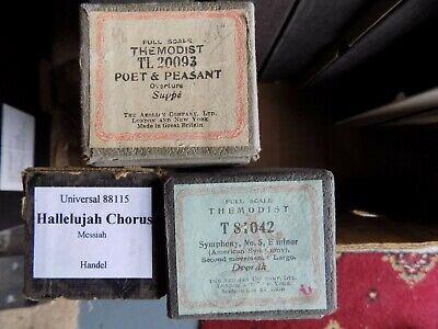 Pianola Rolls x3 Hallelujah Chorus New World Hovis Theme Poet & Peasant Overture