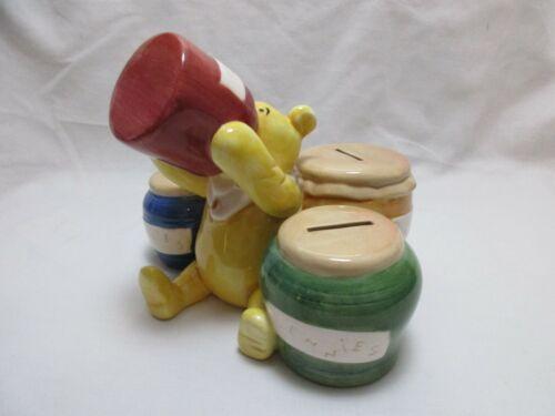 Classic Winnie the Pooh Honey Pot Disney Ceramic Coin Sorting Bank