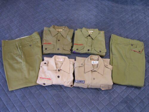 Vintage BSA Boy Scouts + Royal Rangers Uniform Lot - 4 Shirts, 2 Pants