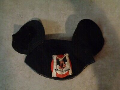 Vintage 1950s MICKEY MOUSE CLUB MUSKETEERS WOOL EARS Hat **** Mickey Mouse Musketeers