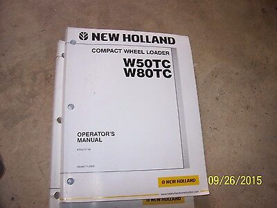 Nh New Holland W50tc W80tc Compact Wheel Loader Operators Manual