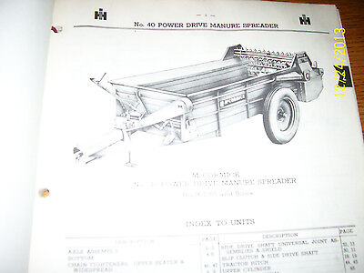 Vintage Ihc International Parts Manual- 31 -400a  Manure Spreaders