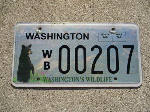Washington Wildlife BEAR    license plate  #  207