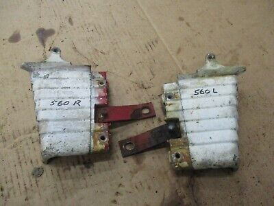 International Farmall 560 Lower Dash Trim Corners Pair. Antiquetractor