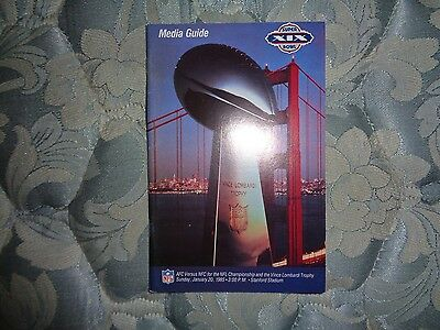 1985 Super Bowl Media Guide San Francisco 49Ers Miami Dolphins 1984 19 Sf Xix Ad