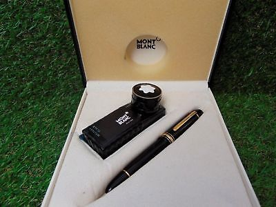 NOS MONTBLANC MEISTERSTUCK 149 FOUNTAIN PEN GOLD 18K NIB M NEW IN BOX