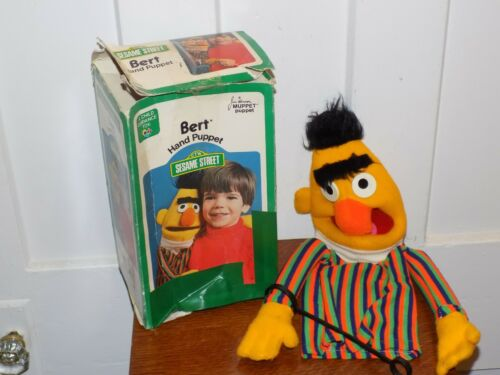 Vintage 1977 Bert Hand Puppet Sesame Street with Box