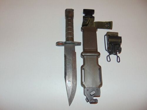 LANCAY M9 BAYONET KNIFE COLLECTABLE MILITARIA SCABBARD SHETH WITH CASE