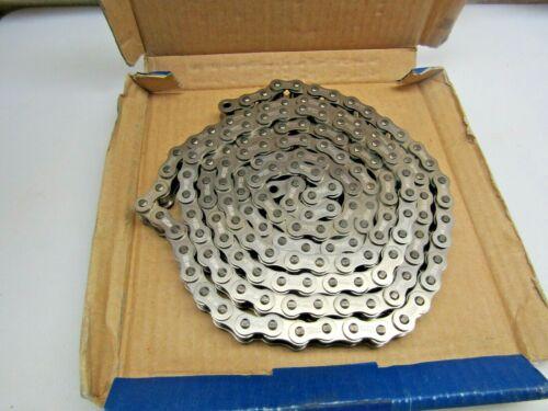 "Enuma Chain Co Japan 08BSS300 08B-1 Stainless Steel Roller Chain 80"" Long OpenBx"