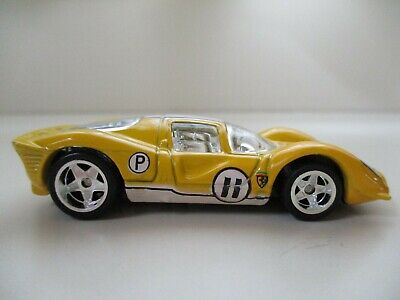 HOT WHEELS - GARAGE - FERRARI 330 P4 RACE CAR (REAL RIDERS) - DIECAST
