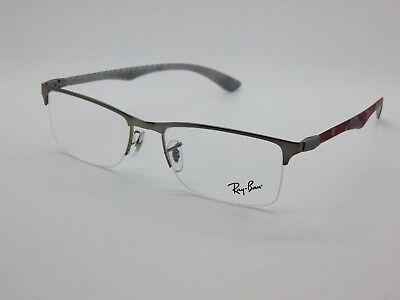 f6f9525f40a NEW Authentic Ray Ban RB 8413 2852 Gunmetal Camo Carbon Fiber 54mm  Eyeglasses