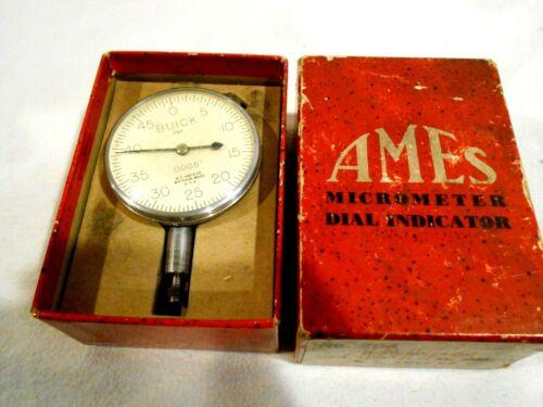 """B.C. Ames #204 Dial indicator """"Buick"""" in Original Box"""
