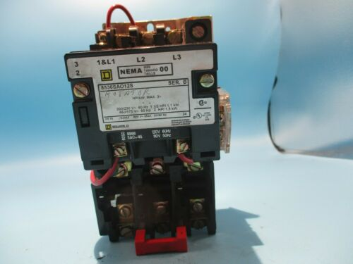 SQUARE D 8536-SAO12S MOTOR STARTER SIZE 00 110/120V COIL