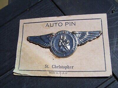 Original 1920 's- 1930 nos Vintage auto Visor St Christopher guide Ford chevy gm