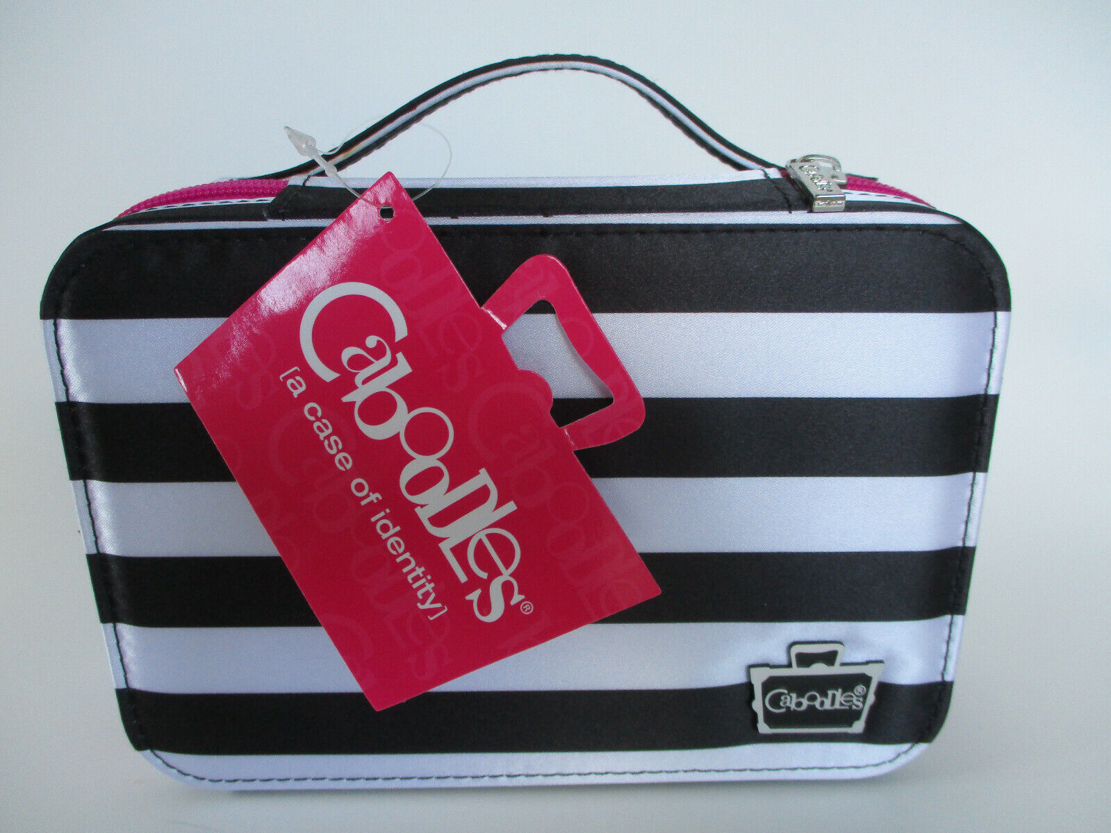 Caboodles Obsession Cosmetic Valet, Black/White Stripe, 0.61