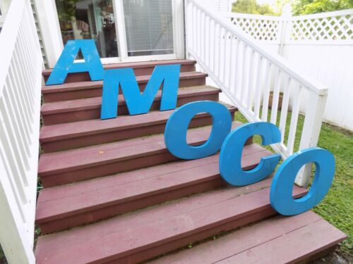 Vintage Amoco Plastic Letter Store Sign