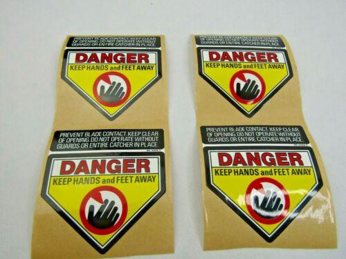 DANGER KEEP HANDS & FEET AWAY DECAL PACK/4