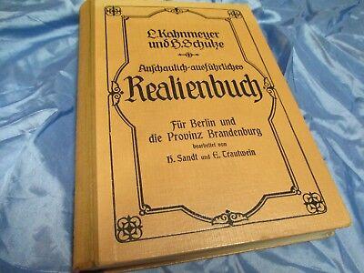 Antik Buch  20er Jahre , Realienbuch für Berlin und die Provinz Brandenburg
