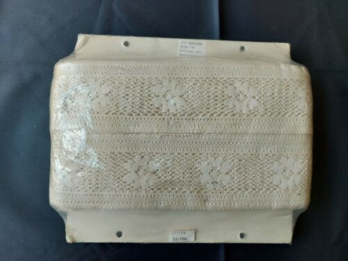 Antique Beautiful Vintage Fine French Lace Trim Edging Ecru 36 Yds UNUSED