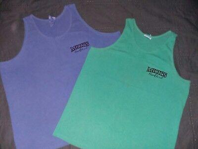 Mick's Bar & Grill Tavern Tank Top cool colors Set of 2 (1-XL 1-XXL) 100% Cotton
