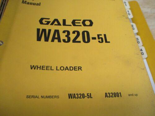 Komatsu WA320-5L Wheel Loader Shop Service Manual