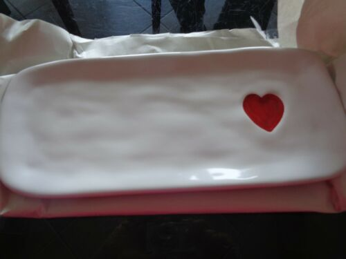Williams Sonoma Heart Valentines Valentine Day Platter New