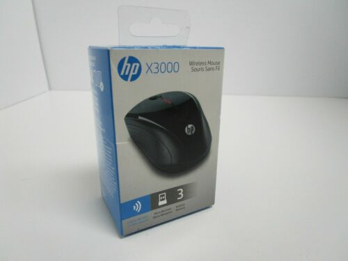 HP Wireless Optical Mouse Black x3000