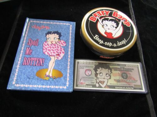 Betty Boop  Lot Tin Note Book And Note